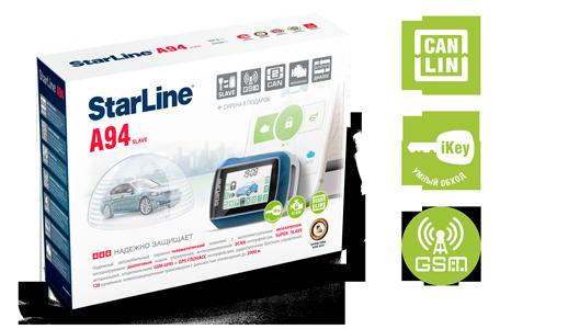 Автосигнализация StarLine A94 2CAN 2SLAVE GSM GPS